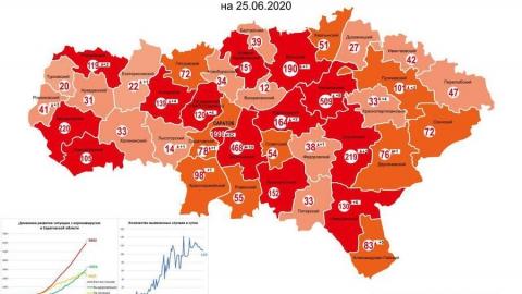 В области не осталось районов, где зарегистрировано менее 10 случаев коронавируса