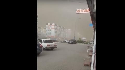 В Саратове началась пыльная буря I ВИДЕО