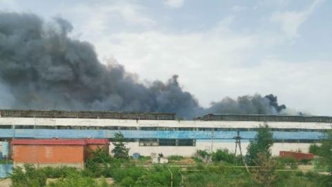 Крупный пожар произошел в балаковском хранилище семечек