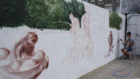 На выходных в Саратове появится граффити с котиками