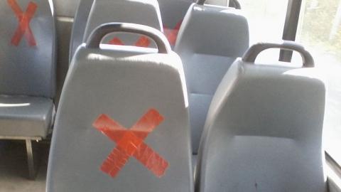 В саратовских маршрутках на пассажирских сиденьях появились кресты
