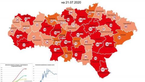 Оперштаб обнародовал новую карту распространения COVID-19 по Саратовской области