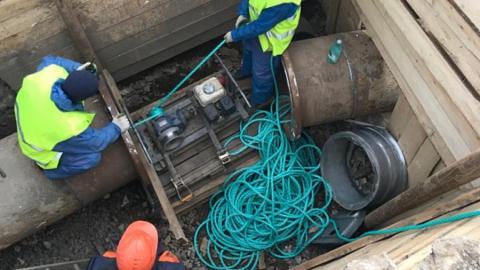 Реконструкция магистрального водопровода по Плодородной – в завершающей стадии