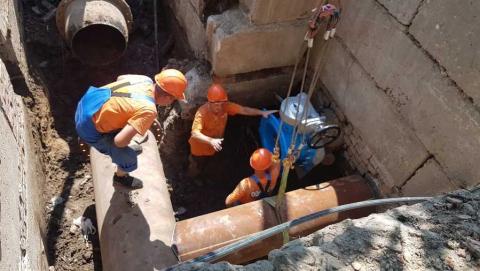 Установка запорной арматуры позволяет осуществлять реконструкцию без отключения абонентов от водоснабжения