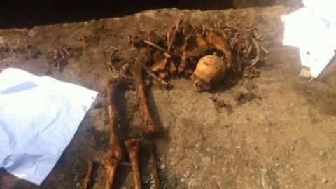 Человеческий скелет был найден при прокладке водопровода в Духовницком районе
