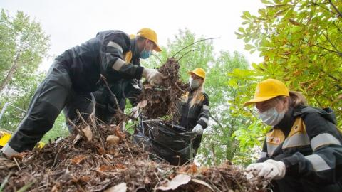 Саратовский НПЗ провел генеральную уборку в парке имени Кирова