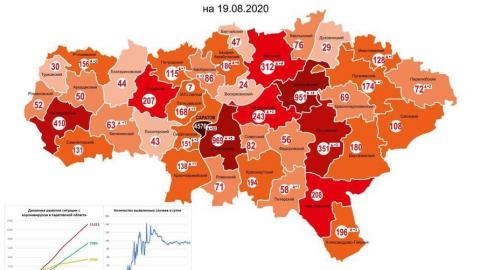 Коронавирусная карта Саратовской области продолжает краснеть