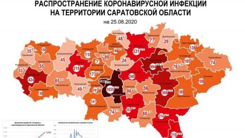 Новая коронавирусная карта Саратовской области опубликована оперштабом