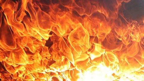 Крупный пожар на Дачах Урицкого за Энгельсом