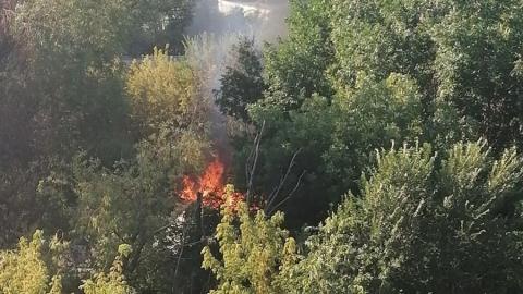 Столб пламени на Ново-Астраханском шоссе озадачил саратовцев
