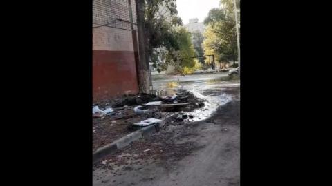 «Ужасное зловоние»: в Заводском прорвало канализацию сразу в двух местах | Видео