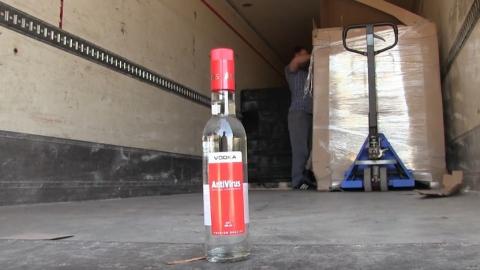 Полиция изъяла 54 тысячи бутылок паленой водки AntiVirus | Видео