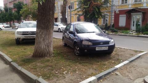 Житель Саратова жалуется на заполонивших газон автохамов