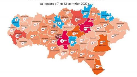 В пяти районах области за неделю не выявлено ни одного случая коронавируса