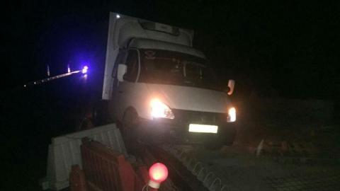 Тройное ДТП с КамАЗом и грузовой ГАЗелью в Воскресенском районе