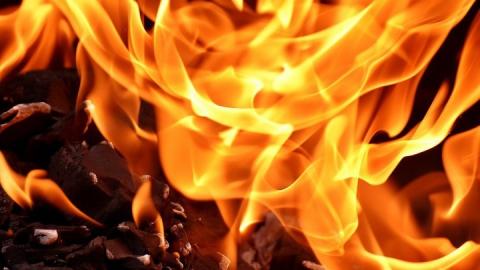 Тонна пшеницы и 20 тонн соломы сгорели под Энгельсом