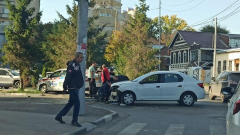Такси оставило иномарку «без лица» в Волжском районе