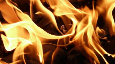 Пожар на Лесной улице в Саратове