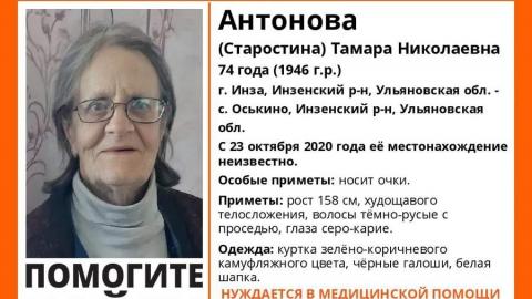 Старушку из Ульяновской области ищут саратовцы