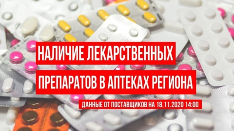 Опубликован полный список препаратов в саратовских аптеках