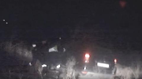 В ночной погоне за нарушителем пришлось применить табельное оружие