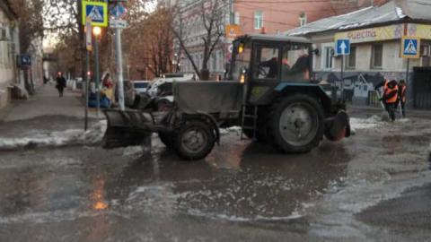 Утро началось с коммунальной аварии на Первомайской