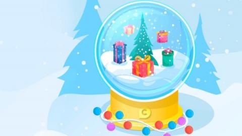 Один миллион бонусов можно получить в новогодней геймификации «Снежный шар»