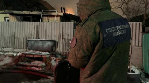 Пожилая жительница Заводского погибла в огне на глазах у сына