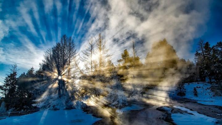Погода в Саратове: мороз и солнце