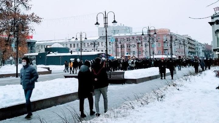 В Саратове завершился несанкционированный митинг