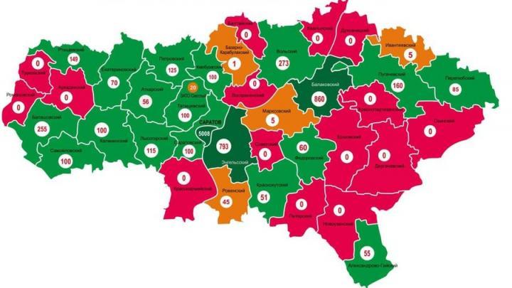 Карта распространения вакцины от коронавируса в Саратовской области