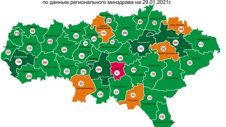 Один район Саратовской области до сих пор не начал вакцинацию от коронавируса