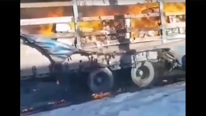 Саратовская фура горела на тамбовской трассе