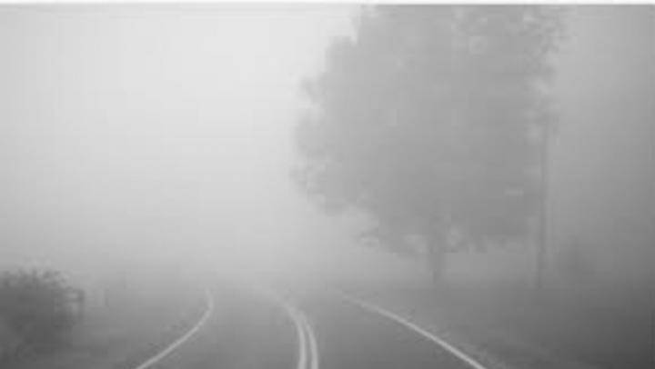 Дождь и сплошной туман в Саратове