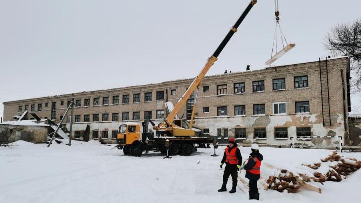 Ремонт горевшей школы № 2 начат в Екатериновке