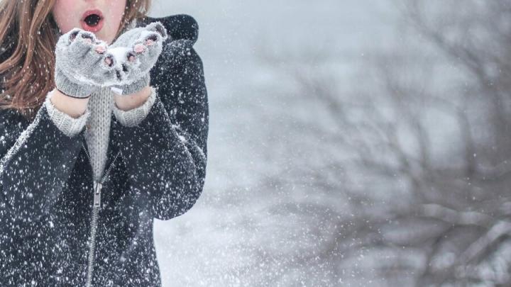 Снегопад и туман в Саратове