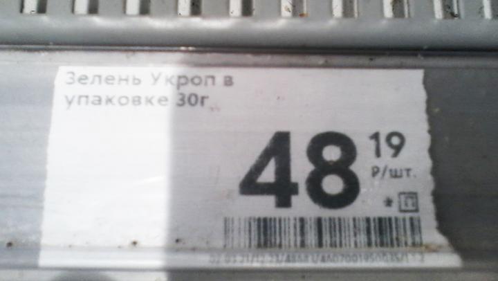Стоимость укропа в саратовских магазинах превысила 1550 тысяч рублей за кг