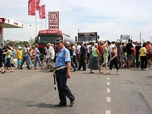 Двести пугачевцев перекрыли федеральную трассу на Самару
