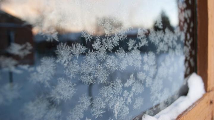 Сильный мороз в Саратове