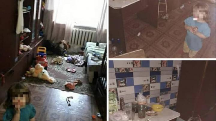 Двухлетняя девочка из общежития в Заводском страдает из-за пьяных родителей