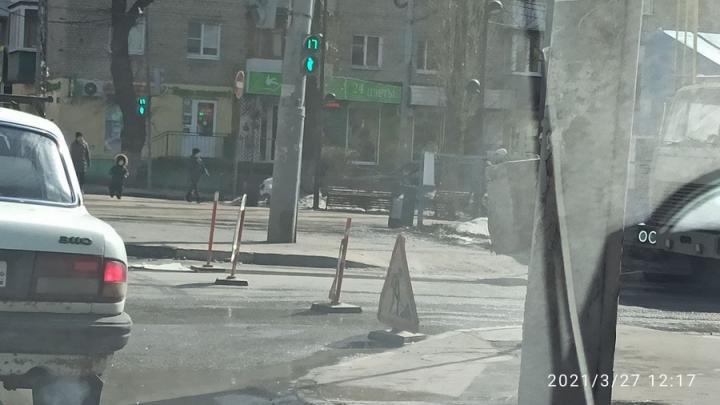 Улица Рахова перекрыта для ремонтных работ