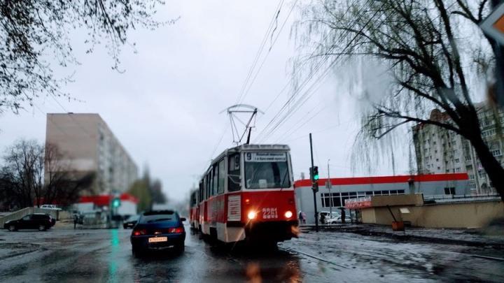 У Детского парка в Саратове встали трамваи нескольких маршрутов