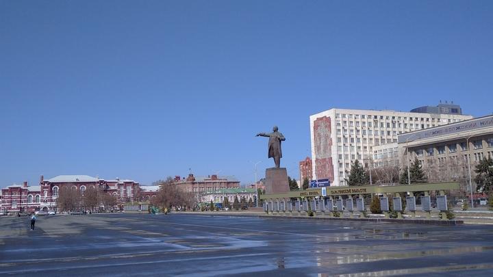 Ремонт памятника Ленину на площади откладывается из-за праздников