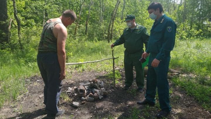 В лесу Красноармейского района любителя костров поймали с помощью квадрокоптера