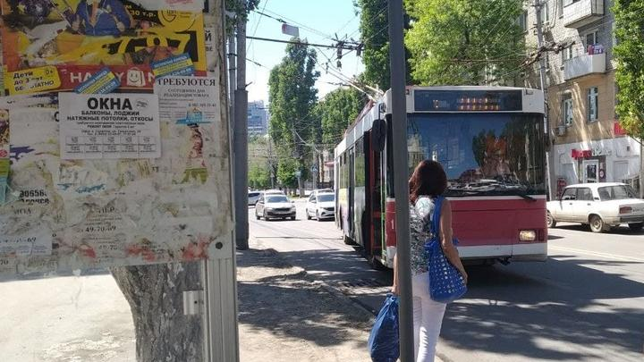 На Музейной площади встали три троллейбусных маршрута
