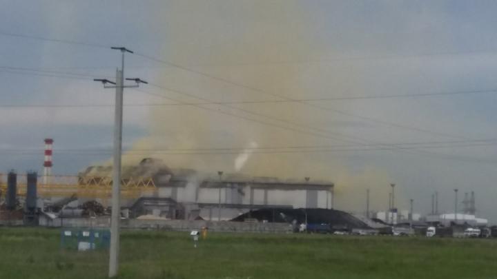 Желтый дым под Балаково встревожил местных жителей