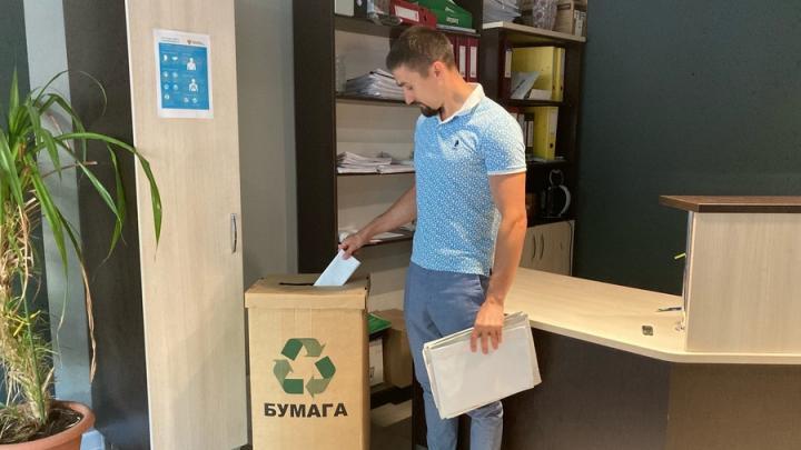 В Саратове сотрудники компании «Ситиматик» сдают на переработку тонну макулатуры в месяц