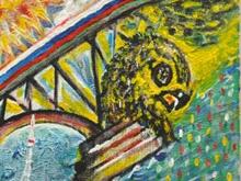 """Для """"Рисованного экватора"""" Аяцков создал гибрид моста и орла"""