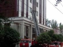 В Саратове горит здание министерства труда. Фото