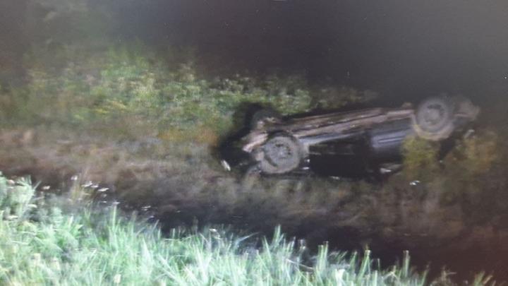 В Энгельсском районе перевернулся Hyundai Sonata: один пассажир погиб
